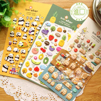 Wholesale mix Sonia three dimensional decoration cartoon stickers sponge foam stickers potatoes panda fruit