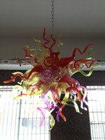 art glass centerpiece - Air Shipping Mouth Blown Borosilicate Murano Glass Dale Chihuly Art Decoration New Wedding Centerpiece Chandelier