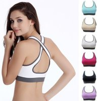 Wholesale 20151205 Details about Women Padded Bra Racerback Top Athletic Vest Gym Fitness Sports Stretch