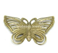 filigree findings - Antique Bronze Filigree Butterfly Charm Pendants Wraps Connectors Embellishments Finding B18680