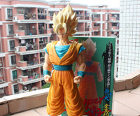 Wholesale 17 quot cm Dragon Ball Z Super Big Super Saiyan Son Gokou th Generation PVC Action Figure Collection Model Toy
