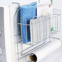 used refrigerators - microwave oven side hanging rack supporter Using spray wire can be hung in a microwave oven refrigerator sides