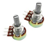 Wholesale 5PCS K Ohm B50K Knurled Shaft Linear Rotary Taper Potentiometer