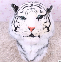 Wholesale Tiger head Lion head Backpacks Men and women Bags Simulation of Solid Animal