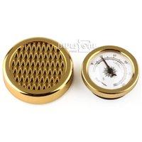 cigar humidor - GOLD Color Smoking Tobacco Hygrometer Humidifier for Cigar Humidor Humidors