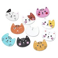 Wholesale Wood Sewing Button Scrapbooking Cat At Random Holes mm quot x mm quot new