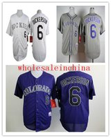 baseballs dickerson - Baseball Jerseys Men ROCKIES DICKERSON White Grey purple Strip Black Jerseys stitched Top quality Mix Order Free Fast Shipping