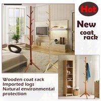 Wholesale The sales promotion Wax wood coat racks manufacturing durable solid wood coat racks wood furniture coat hanger wood hook