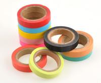 Wholesale 10x Decorative Washi Rainbow Sticky Paper Masking Adhesive Tape Scrapbooking DIY