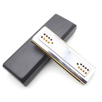Wholesale Musical Instruments Dural Key of C G Double Holes Tremolo Harmonica Mouth Organ Wind Instrument with Box