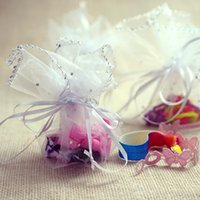 Wholesale round Candy Bag disc yarn bag Gold Round Organza Gift Bag Wedding Favor Party cm Diameter New
