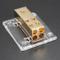 audio blocks - Car Marine Audio Stereo Power Ground Distrbution Block Ga In and Ga Out Hot Sale