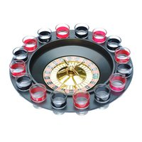 wine accessories - TOP Funny Russia Lucky Shot Adult Game Roulette Drinking Game Spin N Shot Wheel Game With Shot Glasses Bar Party Accessories