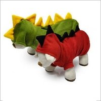 Wholesale New Dog Apparel Pets Supplies Autumn Winter Fashion Cute Cartoon Dinosaur Turned Outfit Dog Outwear MC