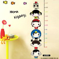 arts doll decorative - Choi fly bedroom wall stickers children clothes cupboard decorative removable wall stickers can be affixed stickers doll height