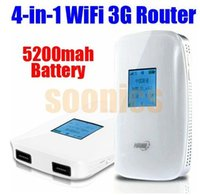 bank drop box - 5200mAh Mobile Backup Power Bank Battery Charger G WiFi M Router Share Box Drop Shipping order lt no track