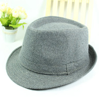Wholesale Autumn Winter Fedora Hats for Men Wool Hats Jazz hats Vintage Women Woolen Roll up Brim Hats Toca Chapeu Feminino