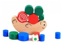 balance exercises for kids - Wooden baby Toy Building Blocks snails colorful balance Exercise game best gift for baby kids toys