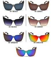 batman sunglasses - New Arrival Women UV400 personality Batman sunglasses Korean Fashionable sunglasses Trendy Retro Big Frame Sunglasses