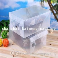 plain shoes - Transparent new plain clear plastic shoe box women shoe packaging PP shoe box design