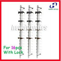 aluminium display frames - Aluminium Lockable Eyeglasses display Rod hold frames