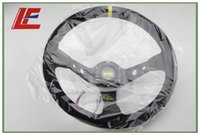 Wholesale Black color inch mm OXP Suede Leather Deep Corn Drifting Steering Wheel yellow String yellow ring