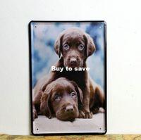 bar graphics - Cute dog metal poster animal style Tin Signs Decor Home Club Bar x12 inch x30cm AN14