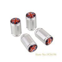 bentley uk - GPS valve caps Sliver UK Flag Logo Emblem Aluminum Car Wheel Tire Valve Caps For LOTUS Morgan Bentley LISTER Rover