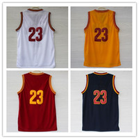 Wholesale Lebron James red yellow white new style Basketball Jerseys New Authentic Home Away Jersey