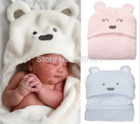 Wholesale New Soft New Born Baby Blanket Cute Animal Pattern Carter Style Baby Towel Robe Holds Bath Towel
