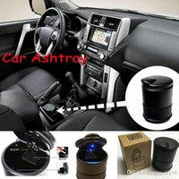 Wholesale New portable Auto Car Truck LED Cigarette Smoke Ashtray Ash Cylinder Cup Holder hot sale Quality DHL