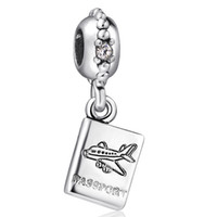 airplane charm bracelet - 925 Sterling Silver Charm Airplane Pendant European Charms Silver Beads For Snake Chain Bracelet DIY Jewelry