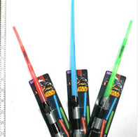 Wholesale 2016 New Cartoon Christmas gift Extendable Star Wars lightsabers Electronic Lightsaber Led Flashing Light Sword Toys for Children hot