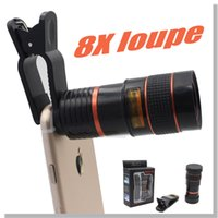 Wholesale for iphone telephone lens universal mobile phone telephone lens X zoom for samsung s6 s6 edge Retail Package