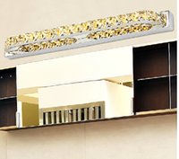 Wholesale Fashion luxury K9 crystal LED the bathroom stainless steel mirror headlights bedroom bathroom mirror lamp