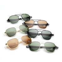 big metal sign - AO sunglasses Men metal box sunglasses Men in Europe and the trend of big shop sign sun glasses