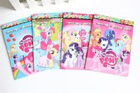 Wholesale Cartoon Colouring Book with Stickers My favorite little horse Ponies Coloring Book Drawing Toys for Children