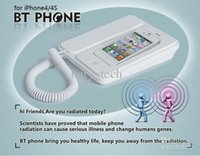 Wholesale radiation proof bluetooth phone docking microphone handset BT PHONE for iP4 cellphone