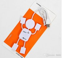 Wholesale High Speed Doll shape splitter usb hub Ports USB HUB For Laptop Pc Samsung for iPhone S S With Retail Package