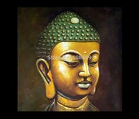 Wholesale Hand painted Small gold Buddha buddha abstract oil paintings Canvas Oil painting x40Inch