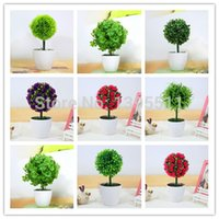 artifical plants and trees - Plastic tree Artifical flower Green Plant Plastic tree With Vase Office and table decoration Home Dec