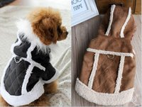 Wholesale Hot sale Free gifts High quality Pet Dog Coat Suede Jacket Casual Fashion Pet Dog Clothes Autumn Winter supply