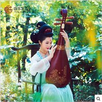 Wholesale Music instrument professional pear wood peony Tang a Pipa lute adult beginner children mahogany freeship