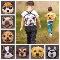 Wholesale New Kids Backpack Boy Girl Schoolbag Cute Dog D Animal Print Cartoon Children Preschool Kindergarten Unisex Bag