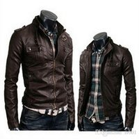 leather jackets for men - 2015 Brand New Mens Leather Jacket Men Masculino Bomber Biker Leather Jackets For Man Skin jacket Coats