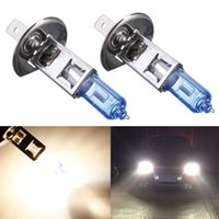 best halogen headlights - Best Price H1 W Halogen Lamp Super Bright White Car Auto Light Source Fog Headlight Parking Bulb DC12V