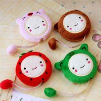 Wholesale 150cm Inch Measure Ruler Novelty Cute Cartoon Pattern Plush LDPE Candy Color Smiling Retractable Tape Sewing Tool