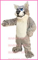 Custom Made alpha kit - Alpha Wolf Mascot Costume Adult Cartoon Character Mascotta Outfit Kit Suit for Halloween Party Carnival Free