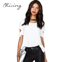 Cheap Fashion Women Clothing New 2015 Summer Spring Sexy Hollow Out Backless White Blouse Loose T Shirt Tops For Female Girl B1502062