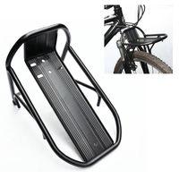 aluminum panniers - Black New Cycling Bike Bicycle Aluminum Alloy Front Rack Panniers Bag Bracket high quality